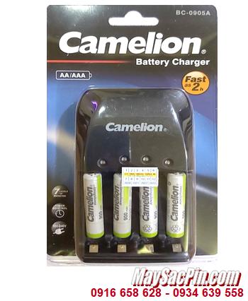 Camelion BC-0905A _Bộ sạc pin BC-0905A kèm 4 pin sạc Camelion NH-AAA900ARBP2 (AAA900mAh 1.2v)
