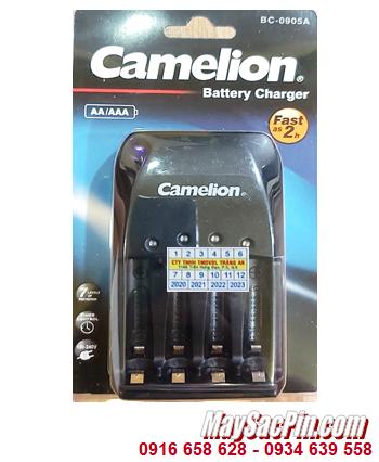 Camelion BC-0905A; Máy sạc pin Camelion BC-0905A _04 khe sạc _Sạc nhanh 2giờ _Sac được 1,2,3,4 pin AA-AAA
