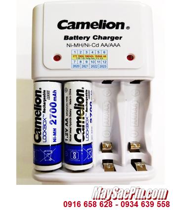 Camelion BC-1010B _Bộ sạc Camelion BC-1010B kèm 2 pin sạc Camelion NH-AA2700LBP2 (AA2700mAh 1.2v)
