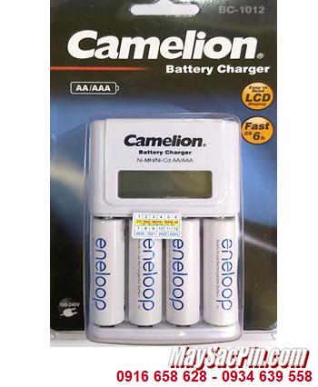 Camelion BC-1012; Bộ sạc pin AA Camelion BC-1012 _kèm 4 pin sạc Eneloop AA2000mAh 1.2v