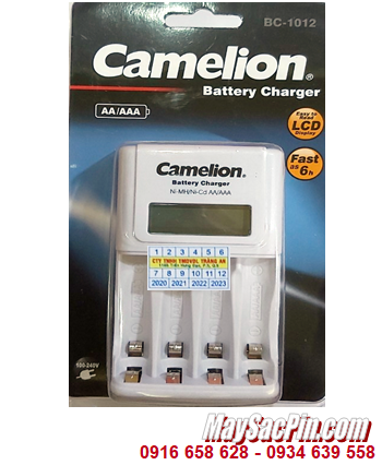 Camelion BC-1012; Máy sạc pin nhanh 6giờ Camelion BC-1012 _có màn hình LCD _Sạc được 2-4 pin AA-AAA