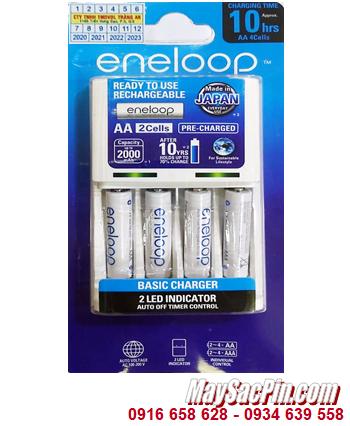 Bộ sạc pin AAA Panasonic Eneloop BQ-CC51E (4AAA750mAh), Kèm sẳn 4 pin sạc Eneloop AAA750mAh 1.2v