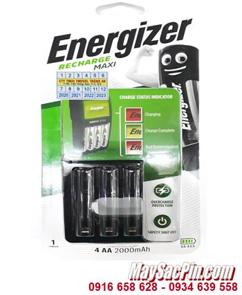 Energizer CHVCM4; Máy sạc pin AA-AAA Energizer CHVCM4 _Sạc 1,2,3,4 pin (Không kèm pin)  Mẫu mới